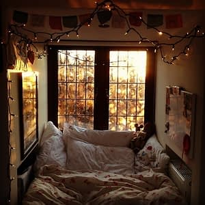 love winter cute adorable lights comfy cold tumblr Cool beautiful room bedroom sleep Home bed Cuddle nice warm Interior house cozy bright Window decoration pillows blankets teddy bear duvet freezing beautiful