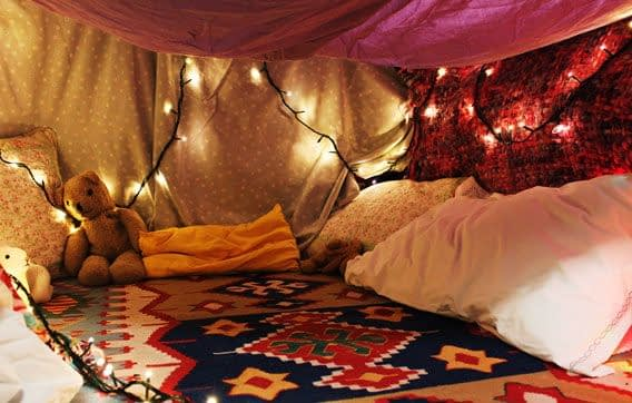 Rainy Day Projects for Kids   Blanket fort, Sleepover room, Pillow fort